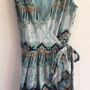 BCBG Navajo Print Wrap Dress